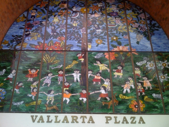 Stained glass installation tribute of La Ronda by Manuel Lepe