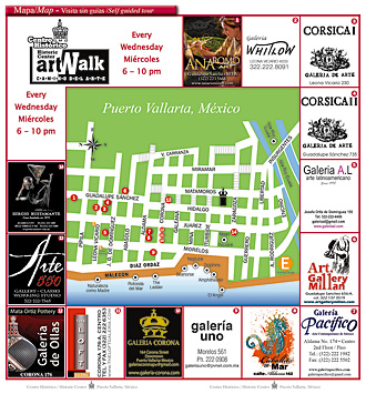 Artwalk map 2011