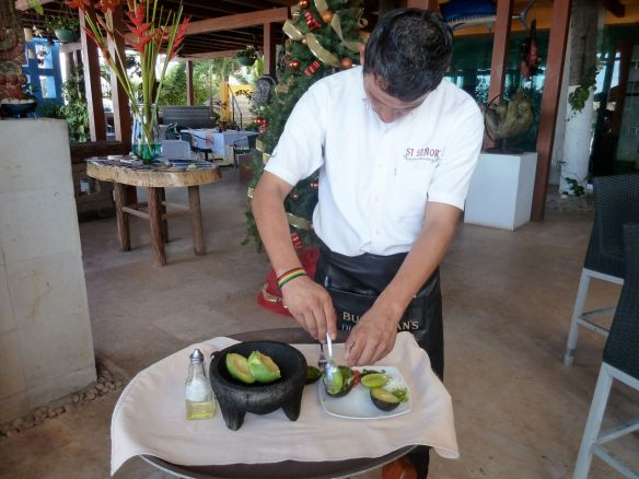 Freshly made guacamole at Si Senor.