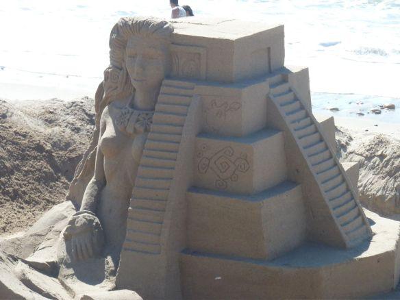 Mayan ruins sand sculpture.