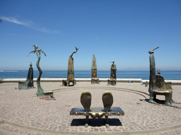 Sculptures along the malecon.