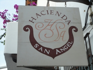 Hacienda San Angel sign