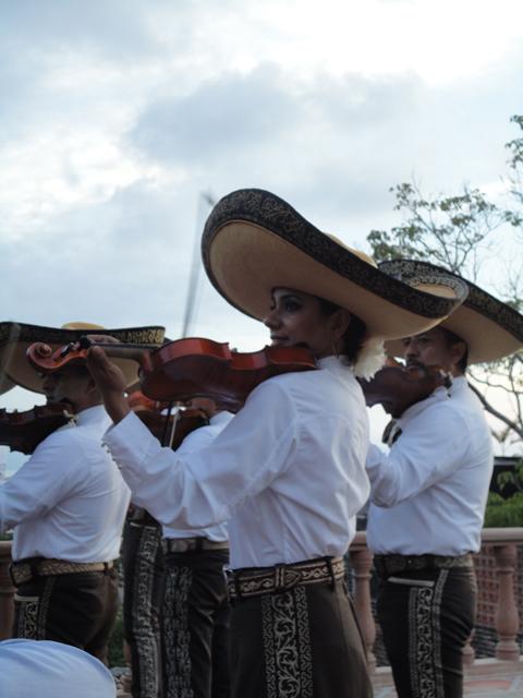 Mariachi band performing.