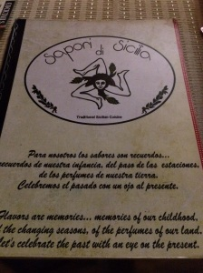 Sopori di Sicilia menu.